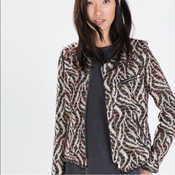 a3494b12 Zara Jackets & Coats | Woman Tweed Blazer L | Poshmark